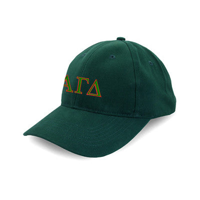 Alpha Gamma Delta Flexfit Fitted Hat - Yupoong 6277 - EMB