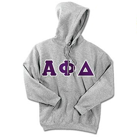 Alpha Phi Delta Standards Hooded Sweatshirt - $25.99 Gildan 18500 - TWILL