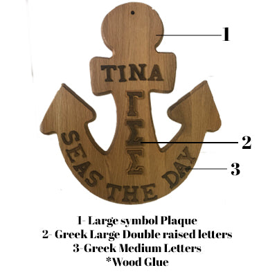 Greek Paddle Package - Anchor Plaque