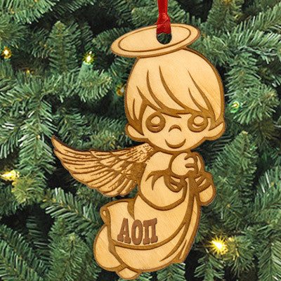 Alpha Omicron Pi Angel Ornament - LZR