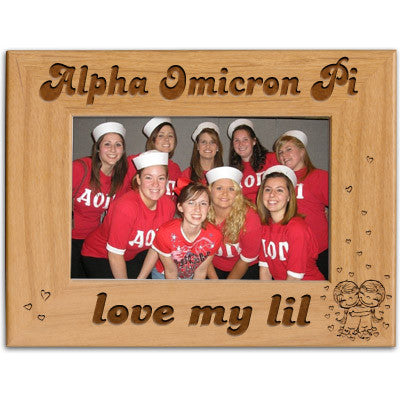 Alpha Omicron Pi Love My Lil Picture Frame - PTF146 - LZR