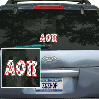 Alpha Omicron Pi Mascot Car Sticker