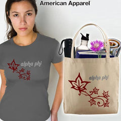 Alpha Phi Mascot Printed Tee and Tote - CAD