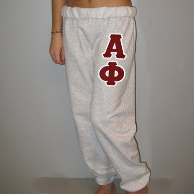 Alpha Phi Sorority Sweatpants - Jerzees 973 - TWILL