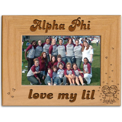 Alpha Phi Love My Lil Picture Frame - PTF146 - LZR