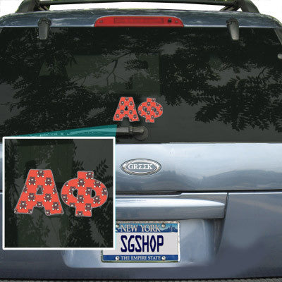 Alpha Phi Mascot Car Sticker