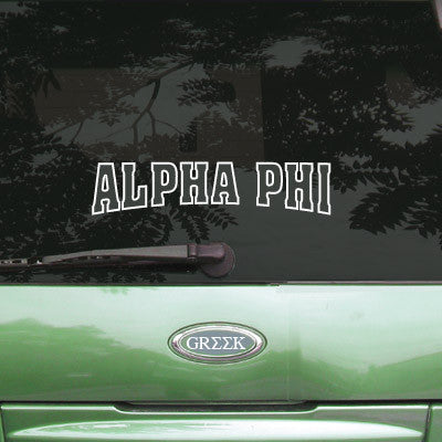 Alpha Phi Stadium Sticker - Angelius Pacific apsc