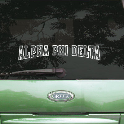 Alpha Phi Delta Stadium Sticker - Angelius Pacific apsc