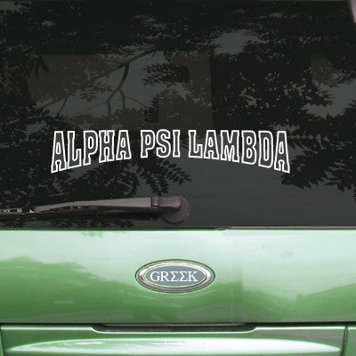 Alpha Psi Lambda Stadium Sticker - Angelius Pacific apsc