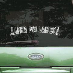 Alpha Psi Lambda Stadium Sticker - Angelius Pacific apsc - CAD