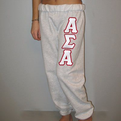 Alpha Sigma Alpha Sorority Sweatpants - Jerzees 973 - TWILL