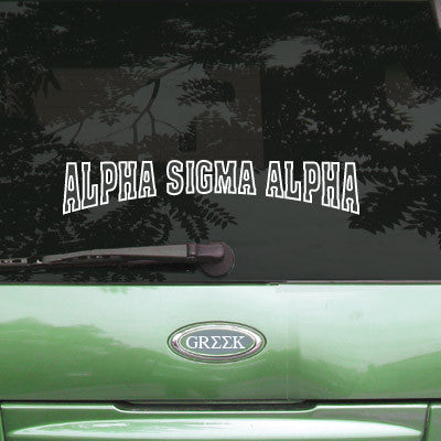 Alpha Sigma Alpha Stadium Sticker - Angelius Pacific apsc - CAD