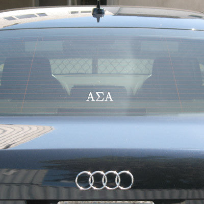 Alpha Sigma Alpha Car Window Sticker - compucal - CAD