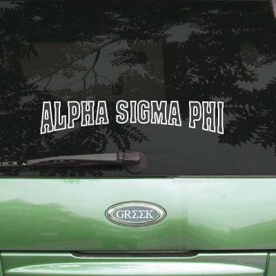 Alpha Sigma Phi Stadium Sticker - Angelius Pacific apsc - CAD
