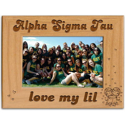 Alpha Sigma Tau Love My Lil Picture Frame - PTF146 - LZR