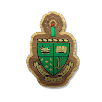 Alpha Sigma Tau Large Wooden Crest - 503 - Limited Availability