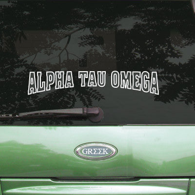 Alpha Tau Omega Stadium Sticker - Angelius Pacific apsc