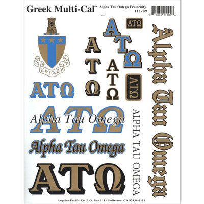 Alpha Tau Omega Multi-Cal Stickers