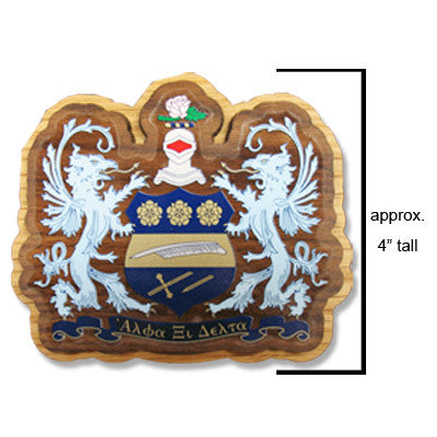 Alpha Xi Delta Large Wooden Crest - 503