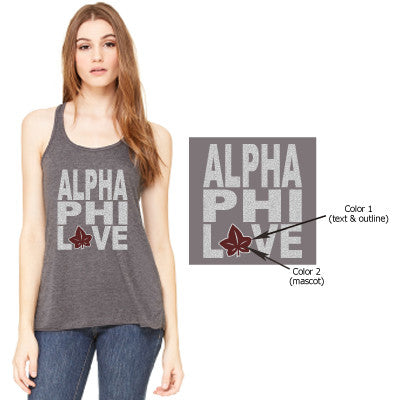 Sorority Mascot Love Tank - Bella B8800 - CAD