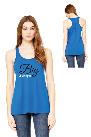 Big Tank Top- Personalized Name Cursive Design - B8800 - CAD