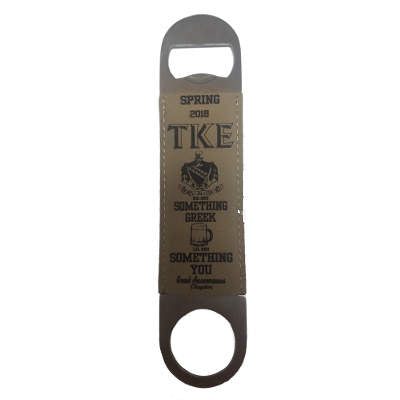 Greek Bottle Opener with Engraved Leather - GFT766 - LZR