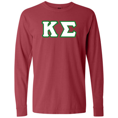 Fraternity Comfort Colors Longsleeve Tee - Comfort Colors C6014 - TWILL