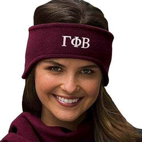 Sorority Fleece Headband - Port and Company C910 - EMB