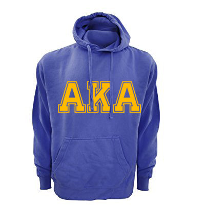 Sorority Comfort Colors Varsity Printed Hooded Sweatshirt - Comfort Colors 1567 - CAD