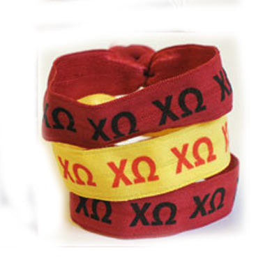 Chi Omega Hair Ties - Scribbles & Such SNS