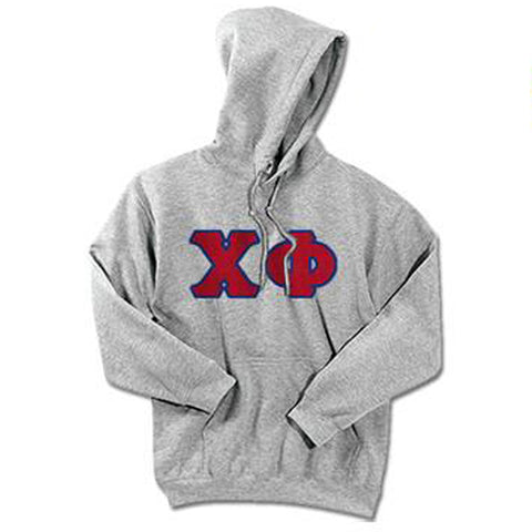 Chi Phi Standards Hooded Sweatshirt - $25.99 Gildan 18500 - TWILL