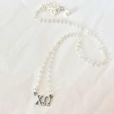 Sorority Sterling Letter Choker- cid680