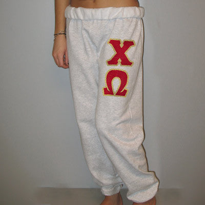 Chi Omega Sorority Sweatpants - Jerzees 973 - TWILL
