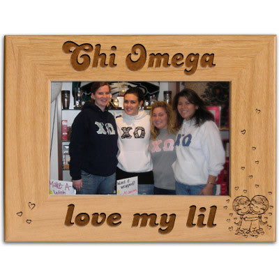 Chi Omega Love My Lil Picture Frame - PTF146 - LZR