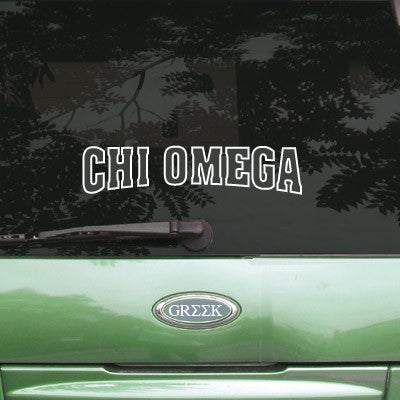 Chi Omega Stadium Sticker - Angelius Pacific apsc