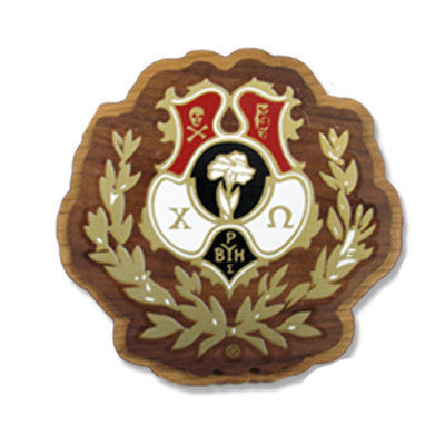 Chi Omega Large Wooden Crest - 503 - Limited Availability