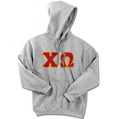 Chi Omega Standards Hooded Sweatshirt - $25.99 Gildan 18500 - TWILL