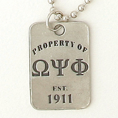 Greek Property Of Dogtag