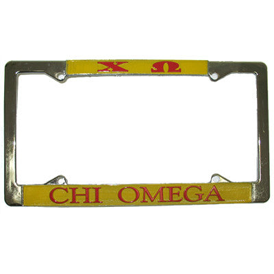 Chi Omega License Plate Frame - Rah Rah Co. rrc