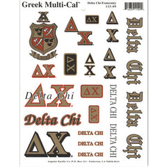 Delta Chi Multi-Cal Stickers