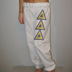 Delta Delta Delta Sorority Sweatpants - Jerzees 973 - TWILL