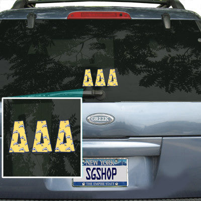Delta Delta Delta Mascot Car Sticker