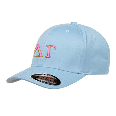 Delta Gamma Flexfit Fitted Hat - Yupoong 6277 - EMB