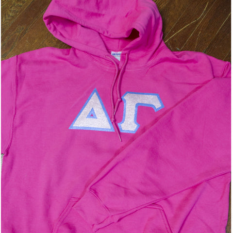 Delta Gamma Hooded Sweatshirt - Gildan 18500 - TWILL