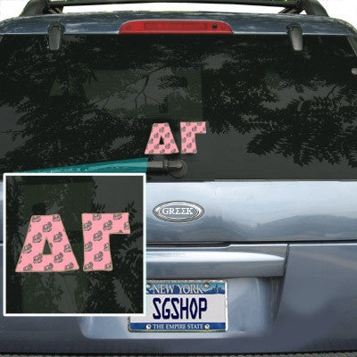Delta Gamma Mascot Car Sticker