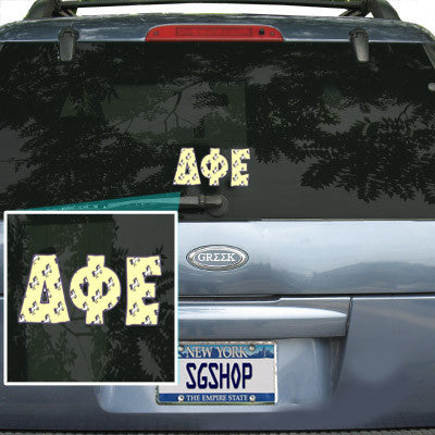 Delta Phi Epsilon Mascot Car Sticker