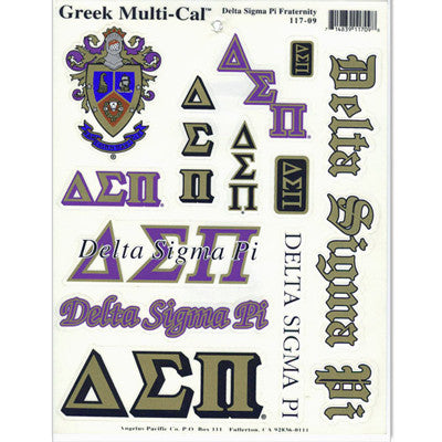 Delta Sigma Pi Multi-Cal Stickers
