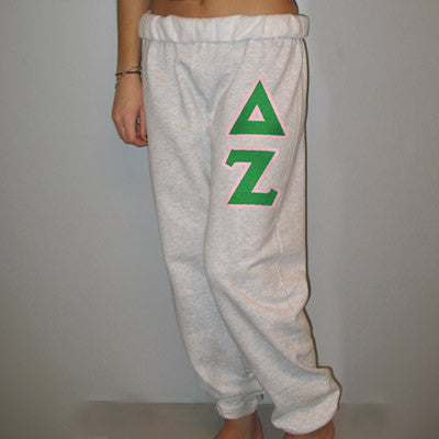 Delta Zeta Sorority Sweatpants - Jerzees 973 - TWILL