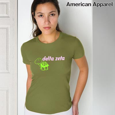 Delta zeta sorority mascot printed tee greek clothing and for American apparel sorority shirts