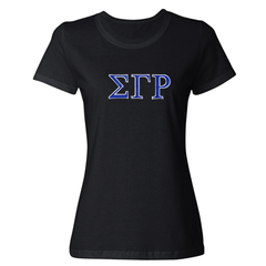 Sigma Gamma Rho Embroidered Jersey Tee - American Apparel 2102W - EMB